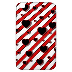 Black and red harts Samsung Galaxy Tab 3 (8 ) T3100 Hardshell Case
