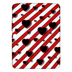 Black and red harts Samsung Galaxy Tab 3 (10.1 ) P5200 Hardshell Case