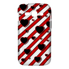 Black and red harts Samsung Galaxy Ace 3 S7272 Hardshell Case