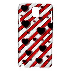 Black and red harts Samsung Galaxy Note 3 N9005 Hardshell Case