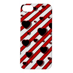 Black and red harts Apple iPhone 5S/ SE Hardshell Case