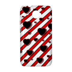 Black and red harts HTC Desire 601 Hardshell Case