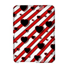 Black and red harts Amazon Kindle Fire (2012) Hardshell Case