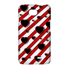 Black and red harts LG Optimus L70
