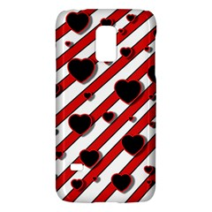 Black and red harts Galaxy S5 Mini