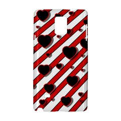 Black and red harts Samsung Galaxy Note 4 Hardshell Case