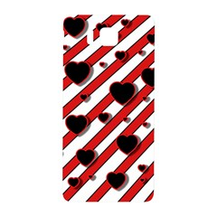 Black and red harts Samsung Galaxy Alpha Hardshell Back Case