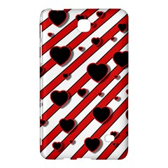 Black and red harts Samsung Galaxy Tab 4 (7 ) Hardshell Case