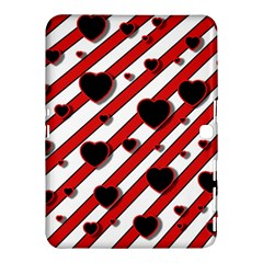 Black and red harts Samsung Galaxy Tab 4 (10.1 ) Hardshell Case