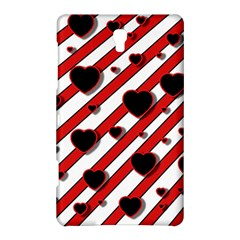 Black and red harts Samsung Galaxy Tab S (8.4 ) Hardshell Case