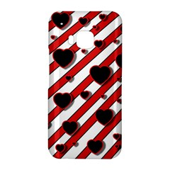 Black and red harts HTC One M9 Hardshell Case