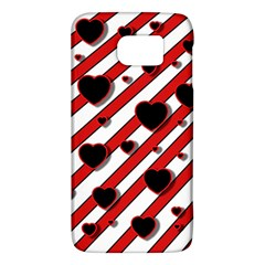Black and red harts Galaxy S6