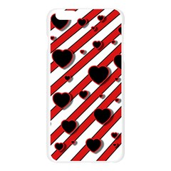 Black and red harts Apple Seamless iPhone 6 Plus/6S Plus Case (Transparent)