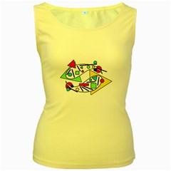 Catch me Women s Yellow Tank Top