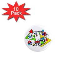 Catch me 1  Mini Magnet (10 pack)