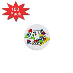 Catch me 1  Mini Buttons (100 pack)
