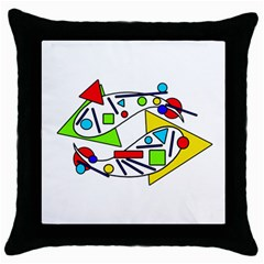 Catch me Throw Pillow Case (Black)