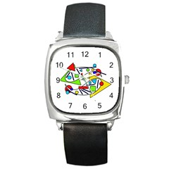 Catch me Square Metal Watch
