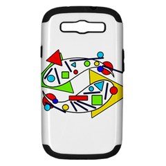 Catch me Samsung Galaxy S III Hardshell Case (PC+Silicone)