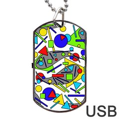 Find it Dog Tag USB Flash (Two Sides)