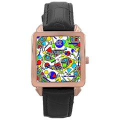 Find it Rose Gold Leather Watch