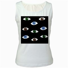 Look at me Women s White Tank Top