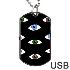 Look at me Dog Tag USB Flash (Two Sides)