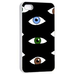 Look at me Apple iPhone 4/4s Seamless Case (White)