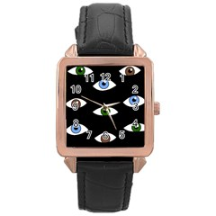 Look at me Rose Gold Leather Watch