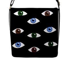 Look at me Flap Messenger Bag (L)