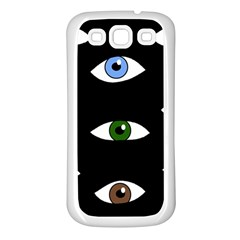 Look at me Samsung Galaxy S3 Back Case (White)