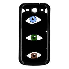 Look at me Samsung Galaxy S3 Back Case (Black)