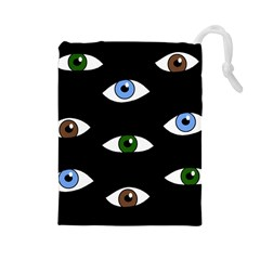 Look at me Drawstring Pouches (Large)