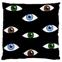 Look at me Large Flano Cushion Case (Two Sides)