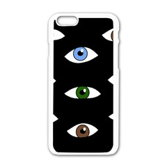 Look at me Apple iPhone 6/6S White Enamel Case