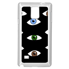 Look at me Samsung Galaxy Note 4 Case (White)