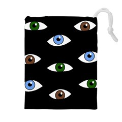 Look at me Drawstring Pouches (Extra Large)