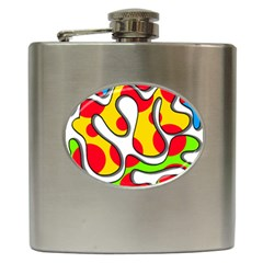 Colorful graffiti Hip Flask (6 oz)