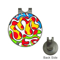 Colorful graffiti Hat Clips with Golf Markers