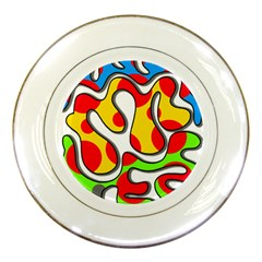 Colorful graffiti Porcelain Plates