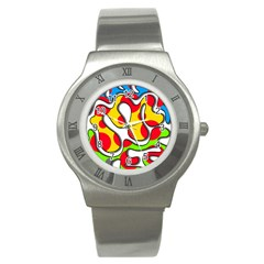 Colorful graffiti Stainless Steel Watch