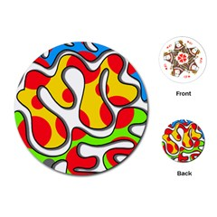 Colorful graffiti Playing Cards (Round)