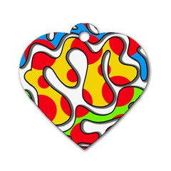 Colorful graffiti Dog Tag Heart (Two Sides)