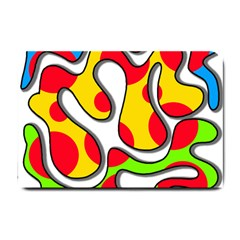 Colorful graffiti Small Doormat