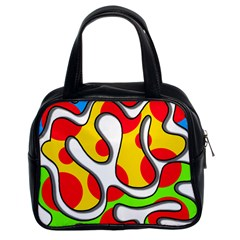 Colorful graffiti Classic Handbags (2 Sides)