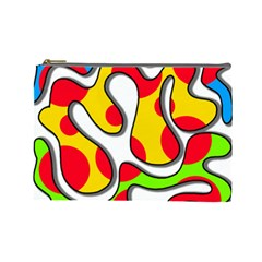 Colorful graffiti Cosmetic Bag (Large)