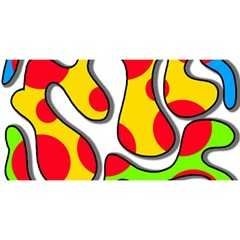 Colorful graffiti YOU ARE INVITED 3D Greeting Card (8x4)