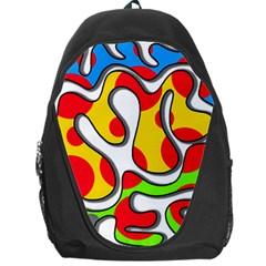 Colorful graffiti Backpack Bag