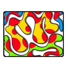 Colorful graffiti Double Sided Fleece Blanket (Small)