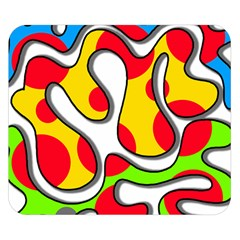 Colorful graffiti Double Sided Flano Blanket (Small)